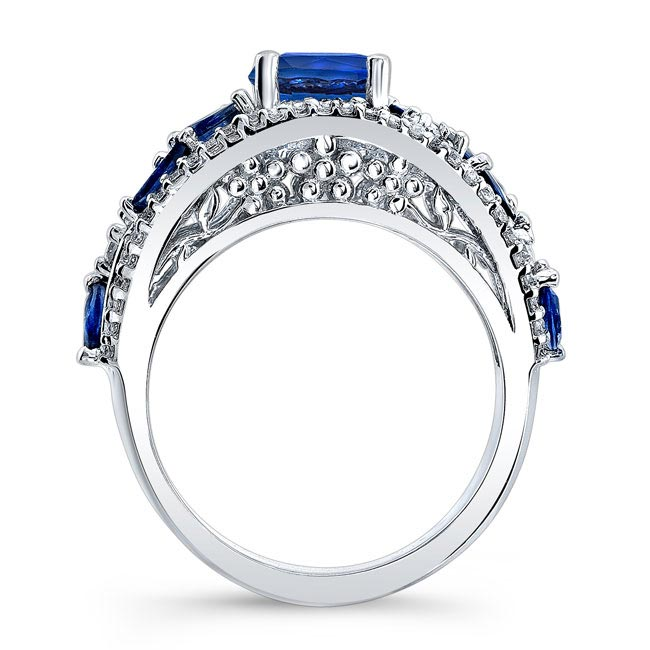 Blue Sapphire Engagement Ring BSC-7984LBS Image 2