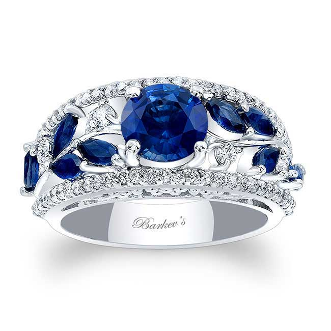 Blue Sapphire Engagement Ring BSC-7984LBS