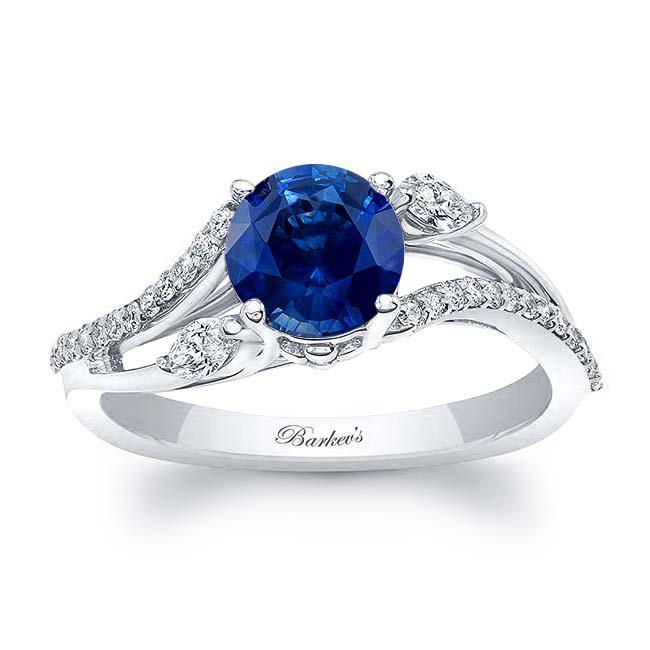 Split Shank Blue Sapphire Ring