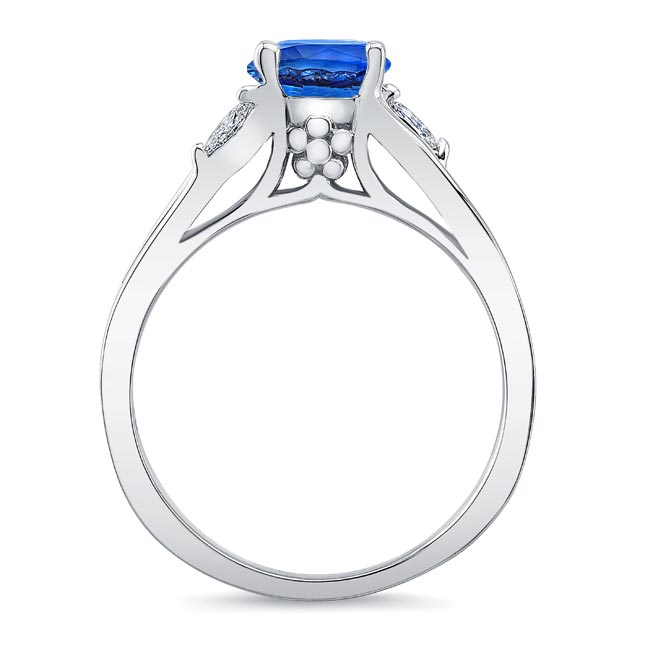 V Shaped Sapphire And Diamond Ring Image 2