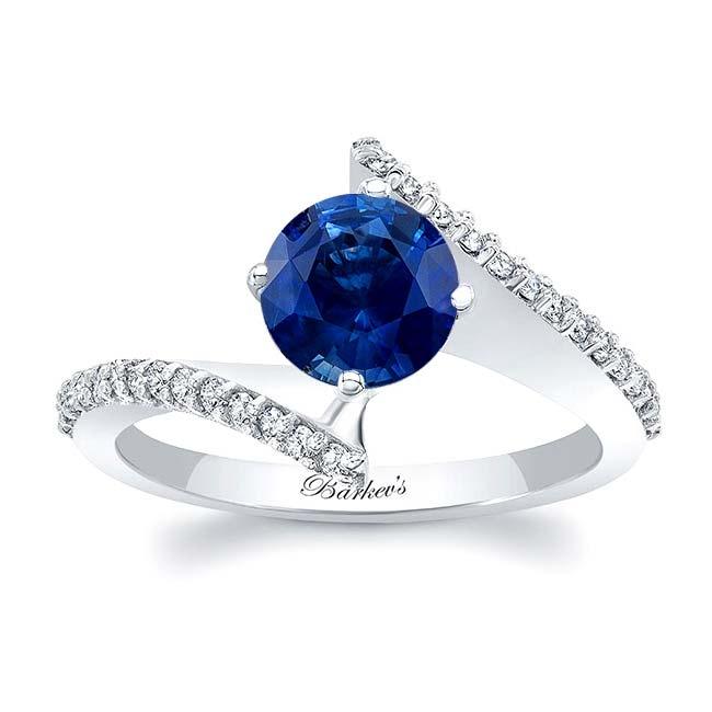 Modern Bypass Sapphire Engagement Ring