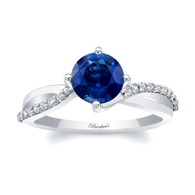 Twisted Sapphire Ring