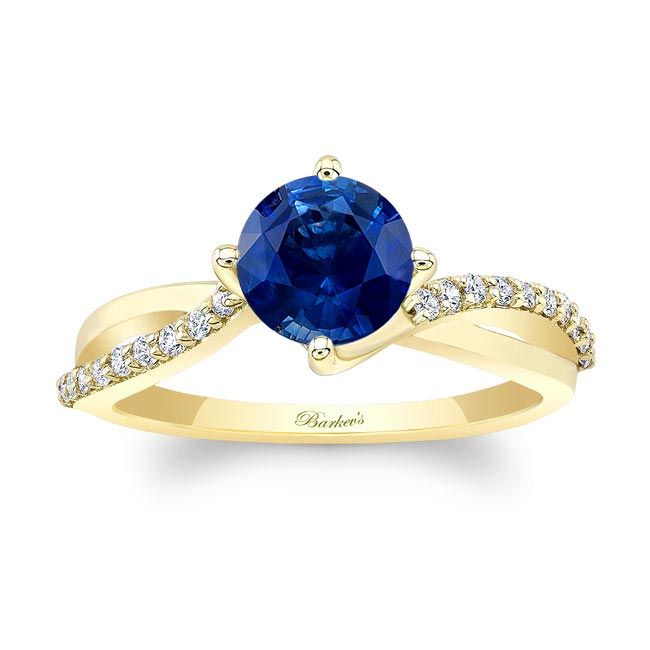 Twisted Sapphire Ring Image 1