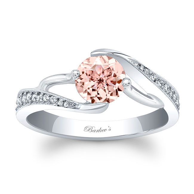 Morganite Engagement Ring MOC-7605L Image 1