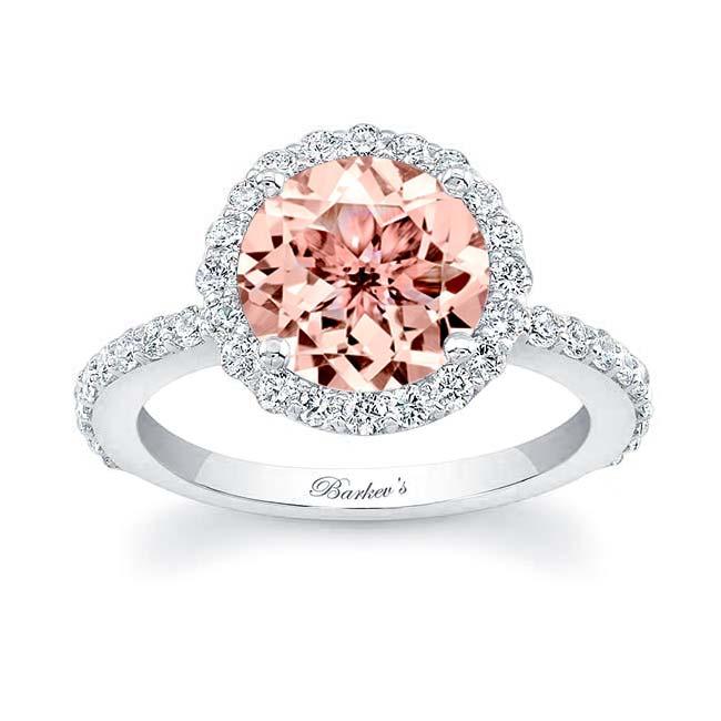 Morganite Engagement Ring MOC-7839L