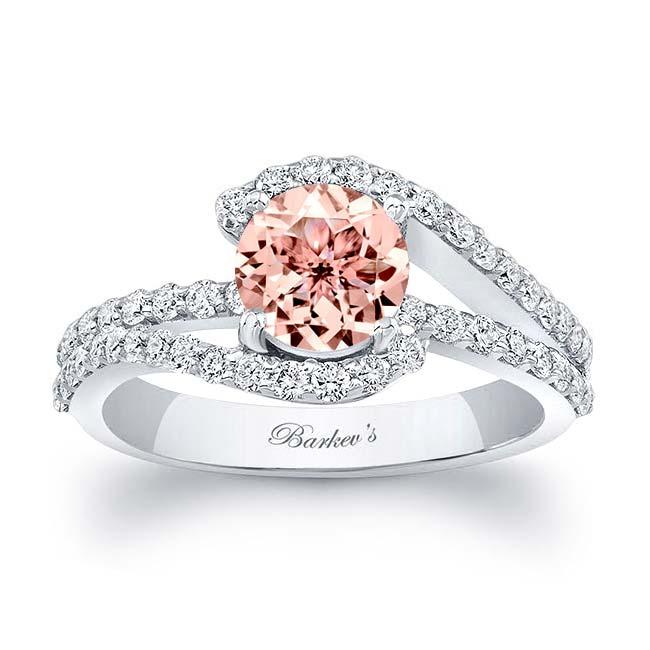 1 Carat Morganite Ring