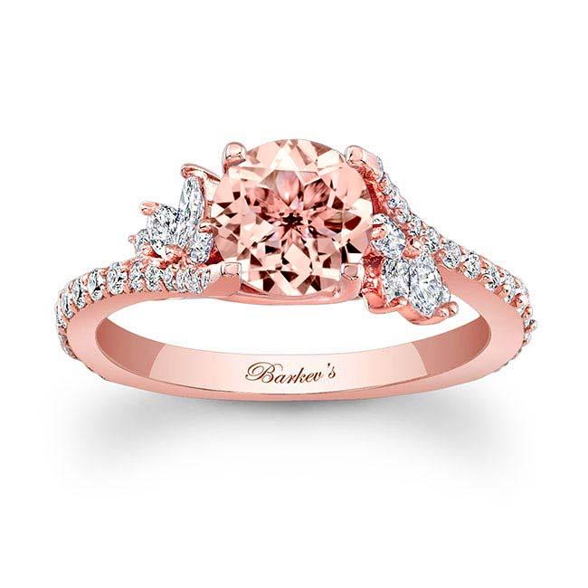Morganite & Marquise Diamond Engagement Ring MOC-7908L Image 1