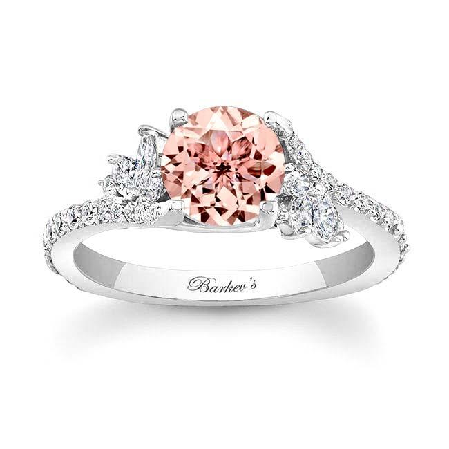 Morganite & Marquise Diamond Engagement Ring MOC-7908L