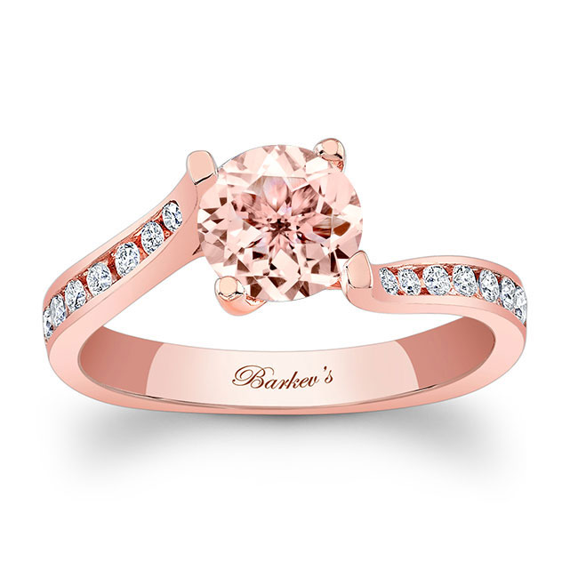 Morganite Engagement Ring MOC-7938L