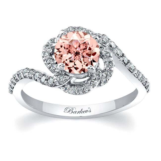 Morganite Engagement Ring MOC-7982L