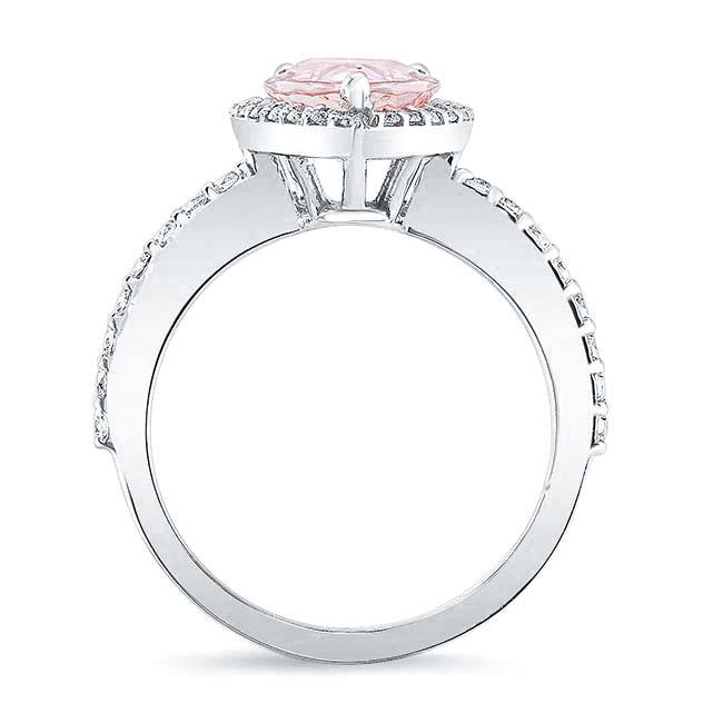 Pear Shape Morganite Engagement Ring MOC-7994L Image 2