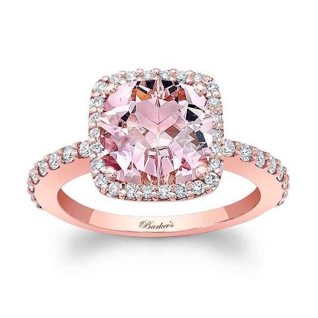 Cushion Cut Morganite Engagement Ring MOC-8025L Image 1