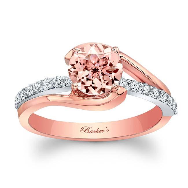 Simple Unique Morganite Engagement Ring