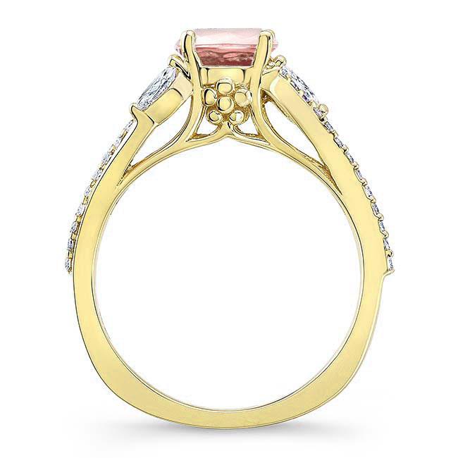 Split Shank Morganite Ring Image 2