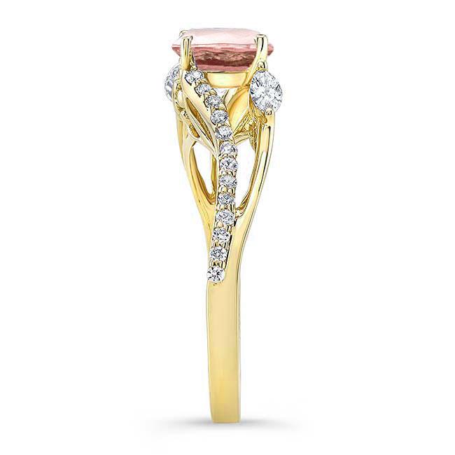 Split Shank Morganite Ring Image 3