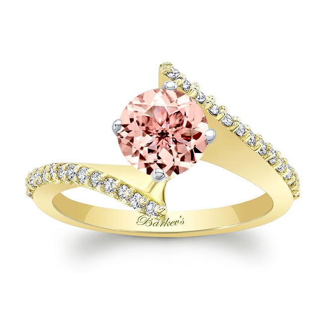 Modern Bypass Morganite Engagement Ring