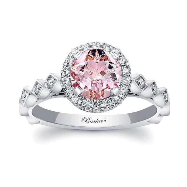 Morganite Engagement Ring MOC-8142L