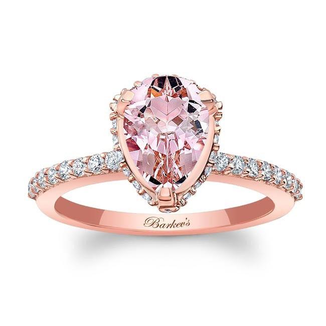 Pear Shape Morganite Engagement Ring MOC-8160L