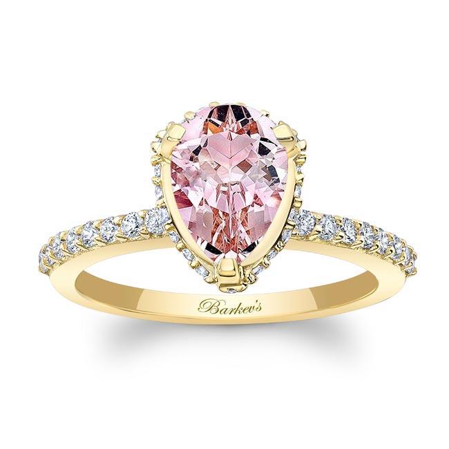 Pear Shape Morganite Engagement Ring MOC-8160L Image 1