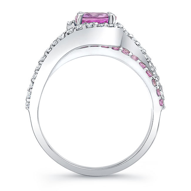1 Carat Pink Sapphire Ring Image 2