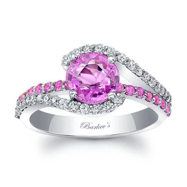 1 Carat Pink Sapphire Ring