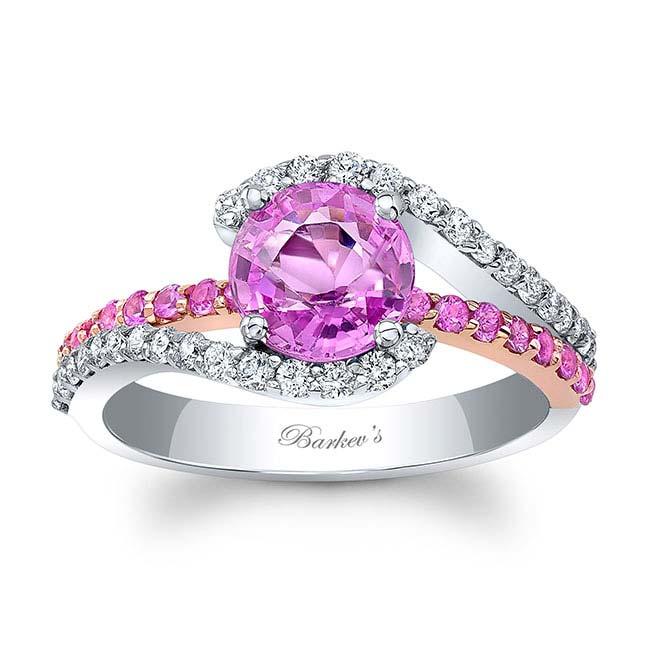 1 Carat Pink Sapphire Ring Image 1