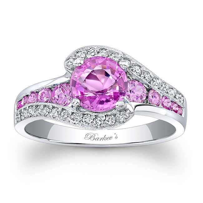 Unique Pink Sapphire Engagement Ring Image 1
