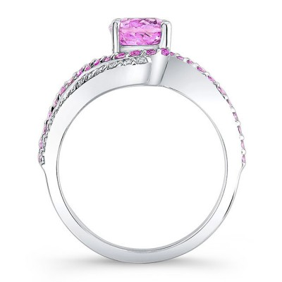 Pink Sapphire Engagement Ring PSC-7912LPS Image 2