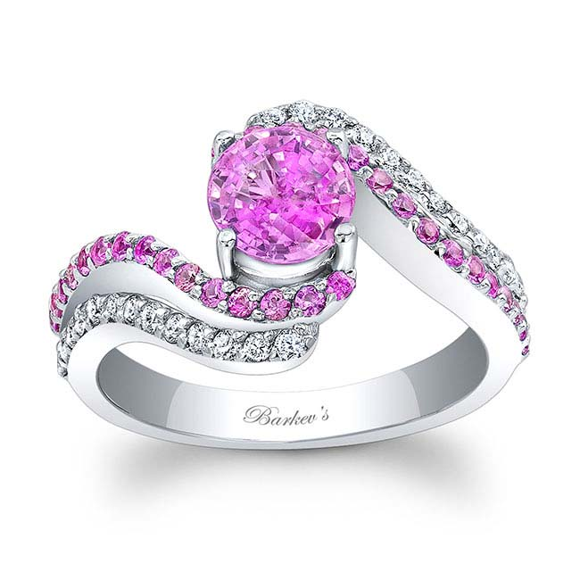 Pink Sapphire Engagement Ring PSC-7912LPS