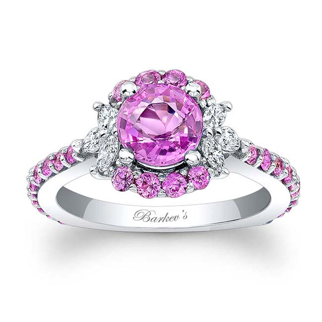 Pink Sapphire Engagement Ring PSC-7930LPS