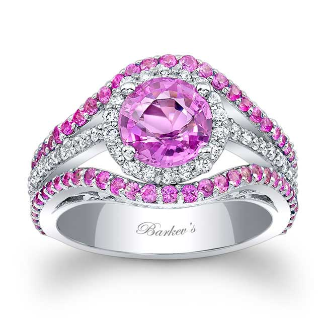 Pink Sapphire Engagement Ring PSC-7941LPS Image 1