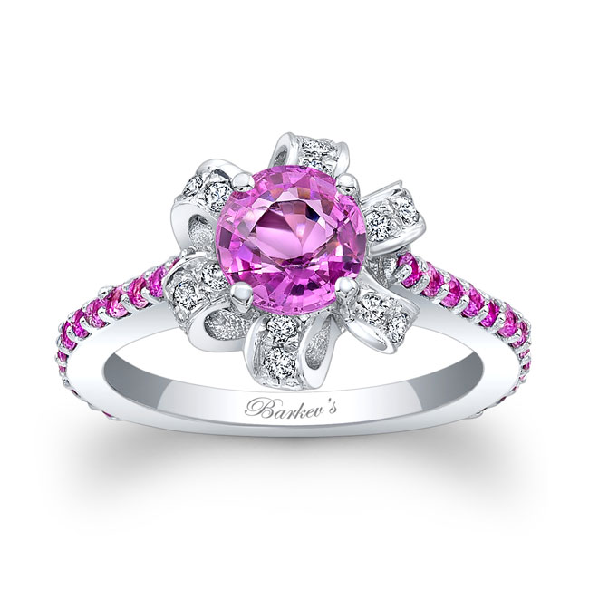 Pink Sapphire Engagement Ring PSC-7958LPS