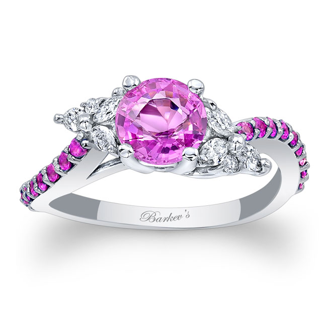 Pink Sapphire Engagement Ring PSC-7968LPS Image 1