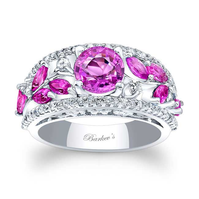 Pink Sapphire Engagement Ring PSC-7984LPS