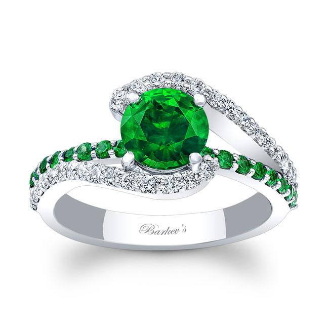 1 Carat Tsavorite Ring Image 1