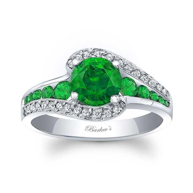 Unique Tsavorite Engagement Ring