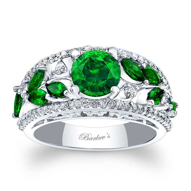 Tsavorite Engagement Ring TC-7984LTSV Image 1