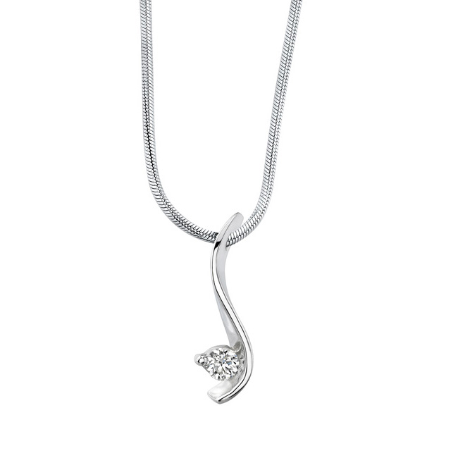 White God Diamond Necklace 5428N