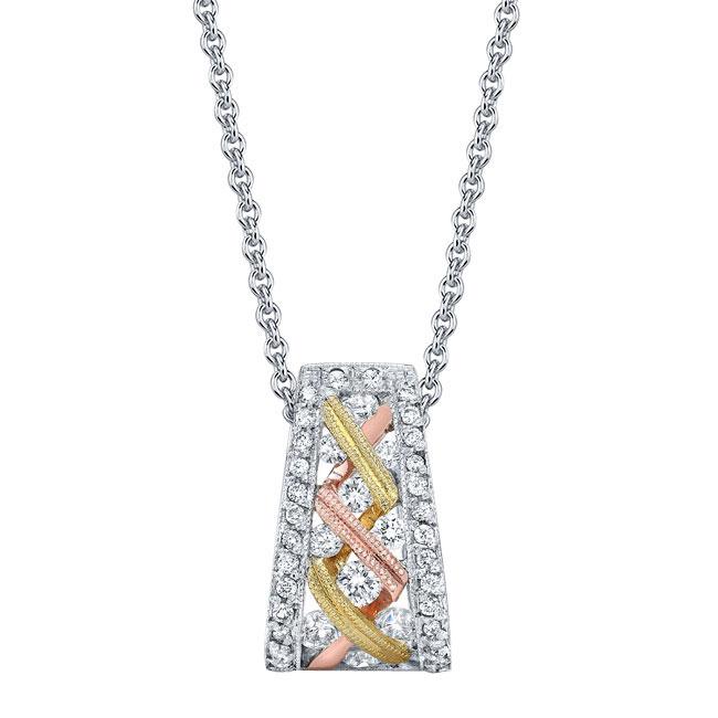 Tri Color Diamond Necklace 6778N