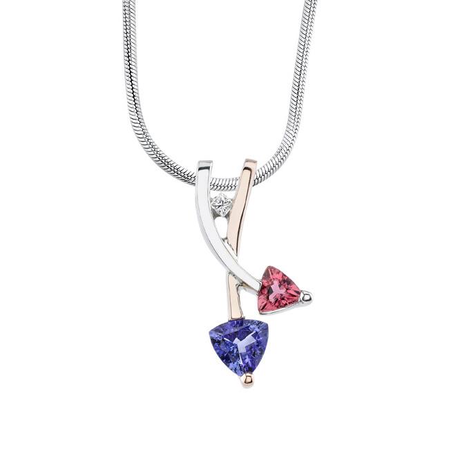 Tanzanite & Pink Tourmaline Necklace 6796N Image 1