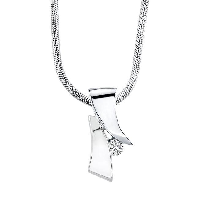 White Gold Diamond Necklace 6853N