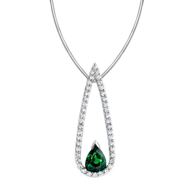 Tsavorite & Diamond Necklace 6994N