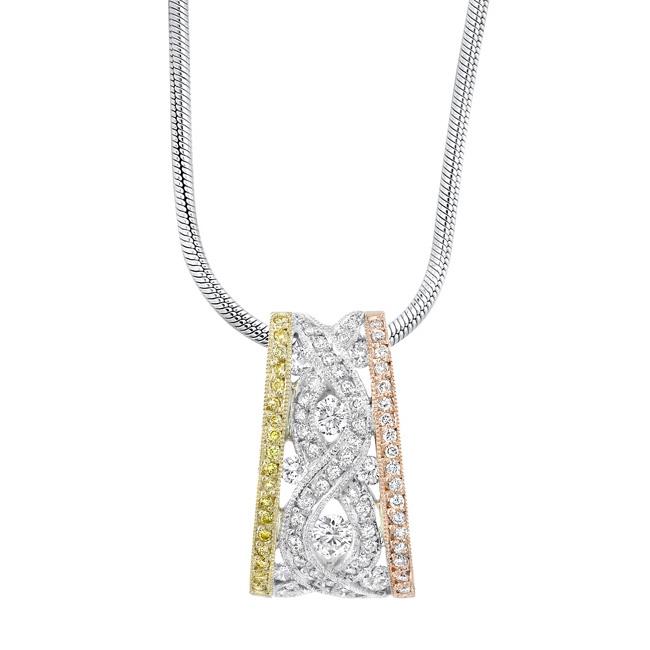 Tri Color Diamond Necklace 6995N