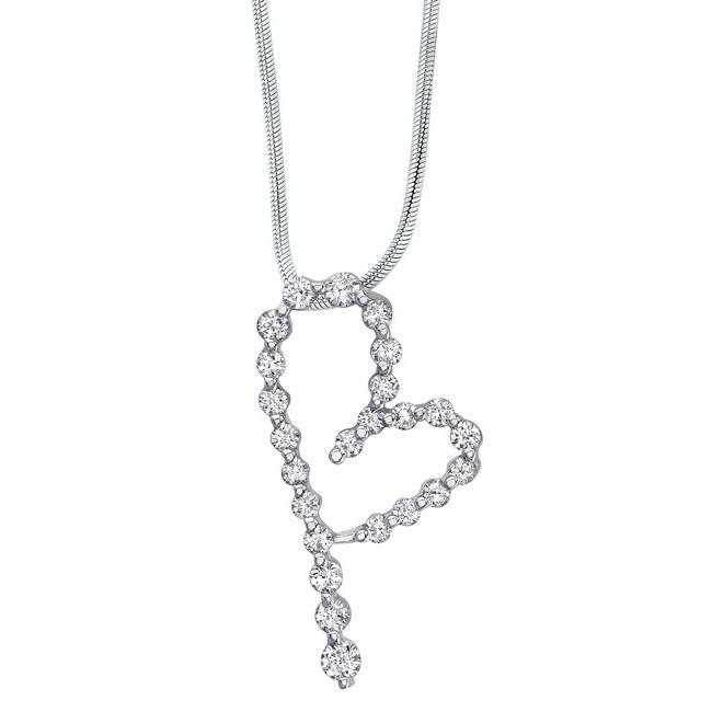 White Gold Diamond Necklace 7350N