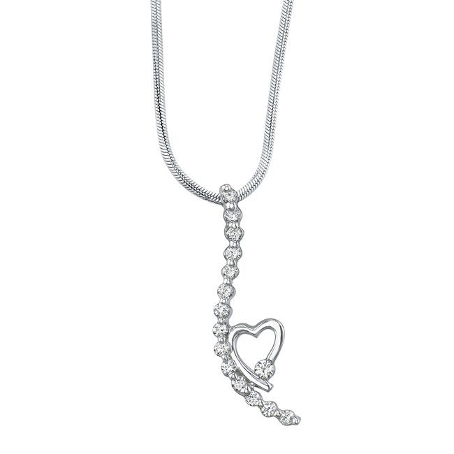 White Gold Diamond Necklace 7352N