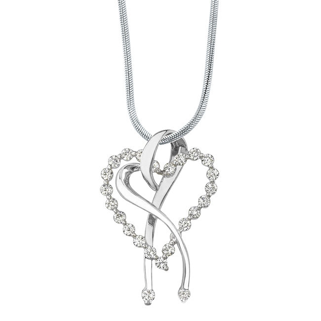 Diamond Heart Necklace 7363N