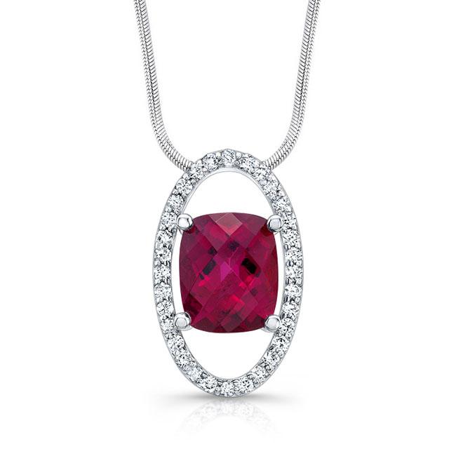 Pink Tourmaline Diamond Necklace 7890N