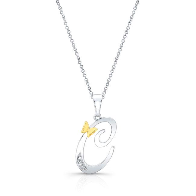 Initial C Diamond Necklace 8113N-C