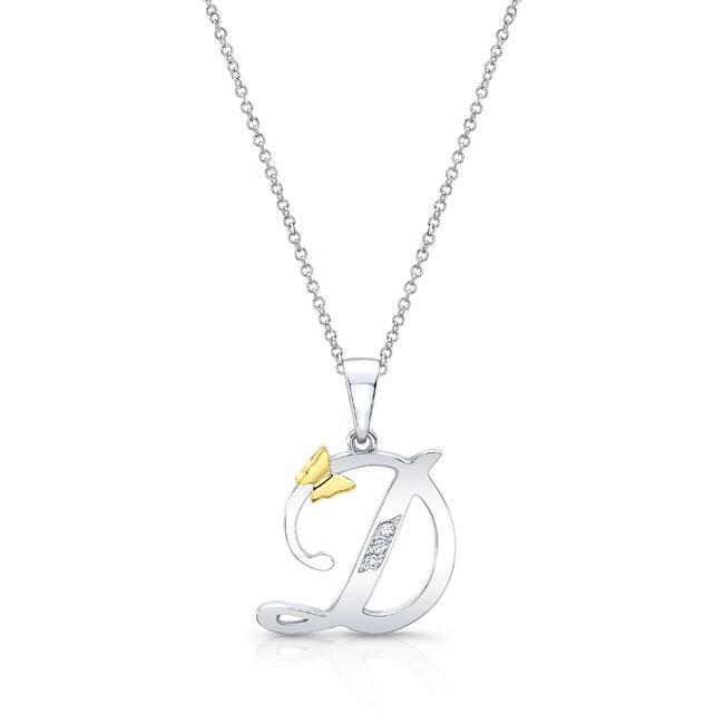 Initial D Diamond Necklace 8113N-D