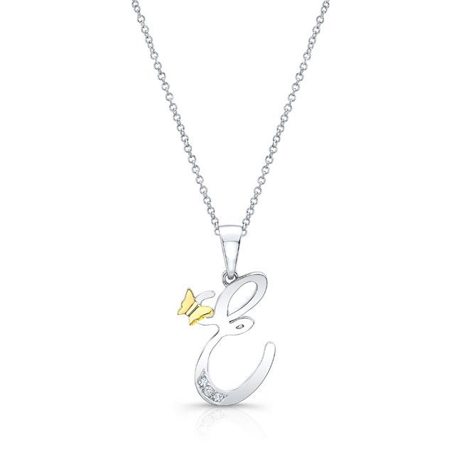 Initial E Diamond Necklace 8113N-E
